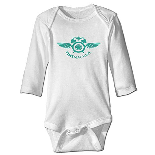 Patricia FordT 6-24 Months Baby Long Sleeve Climbing Suit Baby Long-Sleeved Climbing Suit Loose Fit Angel Alarm Clock Logo White ()