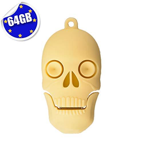 Cute Flash Drive 64GB, EASTBULL Novelty Flash Drive Memory Stick Cute USB 2.0 Thumb Drive Pen Drive Cartoon Skull Shape (1PCS) (Christmas Flash Drive)