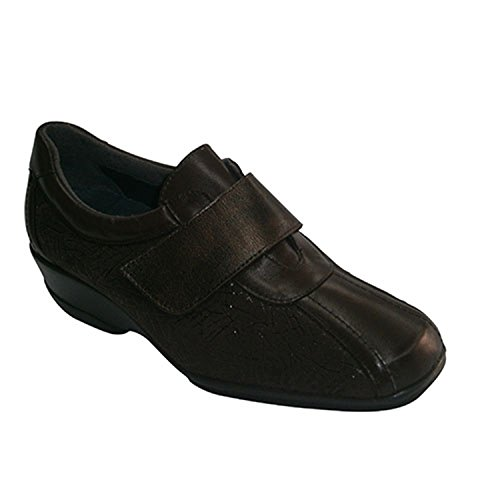 Scarpe con Velcro sul collo del piede elastico Manuel Almazan scuro Brown