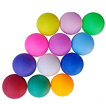 Pack of 100 Unbranded Color Mixing Table Tennis balls