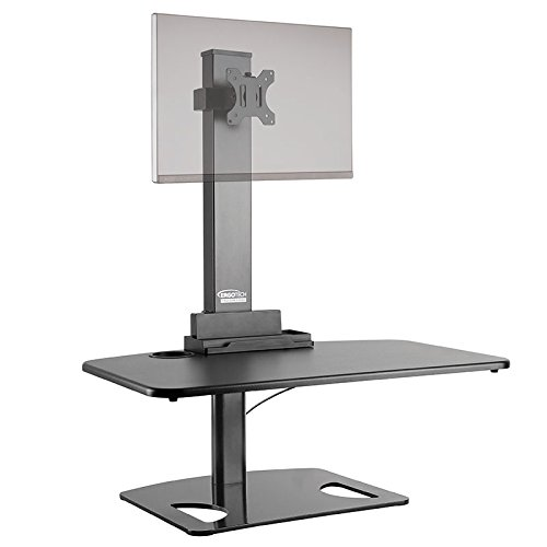 Ergotech Sit Stand Desk with Single Monitor/Sit to Stand Des
