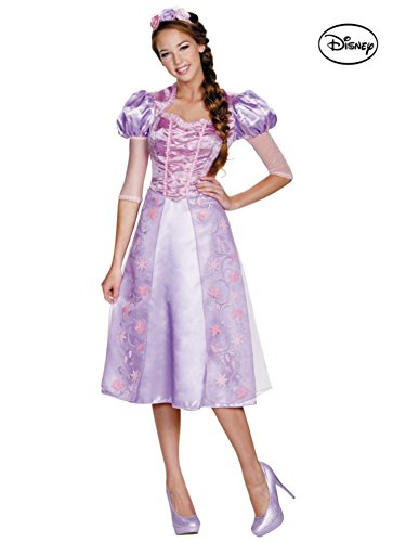 [Adult Disney Tangled Rapunzel Deluxe Costume] (Tangled Costume Ideas)