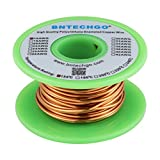 BNTECHGO 16 AWG Magnet Wire - Enameled Copper Wire - Enameled Magnet Winding Wire - 4 oz - 0.0492' Diameter 1 Spool Coil Natural Temperature Rating 155℃ Widely Used for Transformers Inductors