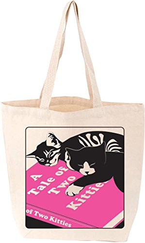 Two Kitties - A Tale of Two Kitties Cat Tote (Love Lit)