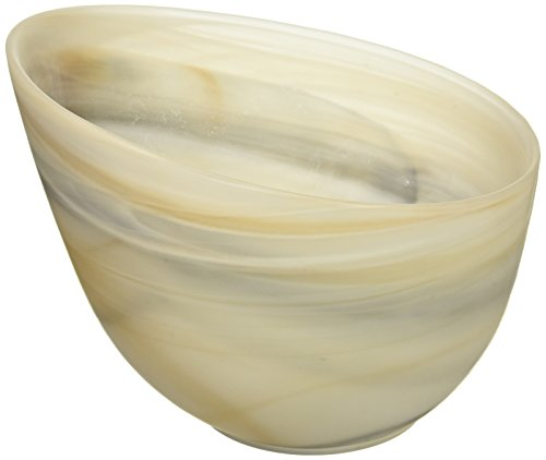 Shiraleah Small Taupe Frosted Alabaster Slanted Bowl ()