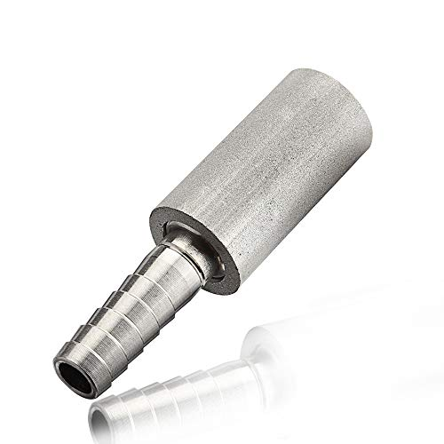"Stainless Steel Diffusion Stone, 0.5 Micron Aeration Stone, Carbonation Stone With 1/4"" Barb For Brewing (0.5 Micron)"