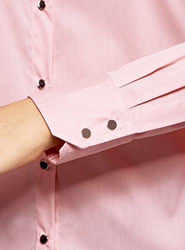 In Collection Con A 4000n Cotone Pressione Donna Bottoni Camicia Oodji Rosa Upxw7WAqHH