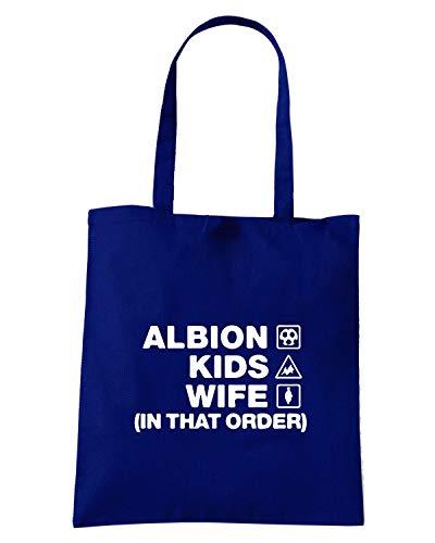 Shopper ALBION WC1103 Speed BROM Shirt WIFE Navy WEST Borsa Blu KIDS FwEqX8aCq