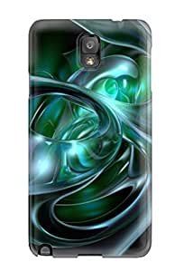 AIYAYA Case Cover For Galaxy Note 3 - Retailer Packaging Blue Green Abstract Protective Case