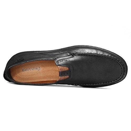 Tamaño Marrón Unión De De Bragas tamaño Ponen Se Cuadrícula Mocasines Vestir Zapatos La Microfibras Gracosy De Pequeño Hombres Loafter Gris Trabajo Cuero De De Para Oscuro Las fwqSnxHU