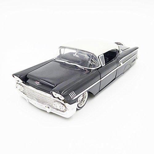 Chevrolet Hardtop Impala - NEW 1:24 JADA TOYS DISPLAY COLLECTION - Black 1958 Chevrolet Impala SS Hardtop