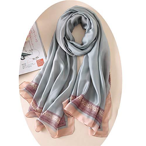 YoungG-3D Women Silk Scarf Beach Shawl Echarpe Luxurious Wrap Designer Scarves Female Beach Stole Bandana B5 Onesize