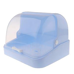 joyMerit Bottle Drying Rack Dustproof Feeding Cup Holder Baby Dishes Food Organizer - Blue, 30 x 26.5 x 22cm