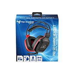 Subsonic – Gamer Headset – Pro Gaming 50 for PS4 – Xbox One – PC – Nintendo Switch – Red Sports Edition (PlayStation Vita///)