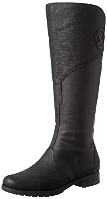 Rockport Women's Tristina Gore Tall Waterproof Boot - Wide Calf Black - Extended Shaft Boot 5 M (B)