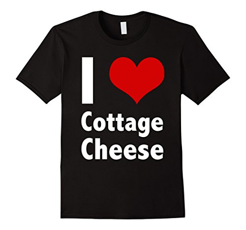Men's I Love Cottage Cheese T Shirt Large Black