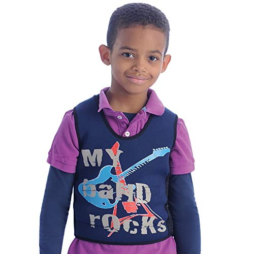 Fun and Function's Band Graphic Weighted Compression Vest - Helps With Mood & Attention, Sensory Over Responding, Sensory Seeking, Travel Issues ()