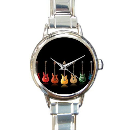 Hot Sale Christmas Day Gift Watch Cool Special Guitar Design Round Italian Charm stainless steel Watch