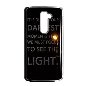 LG G2 Cell Phone Case Black_quotes parallax darkest moments focus to see light Fuwrl
