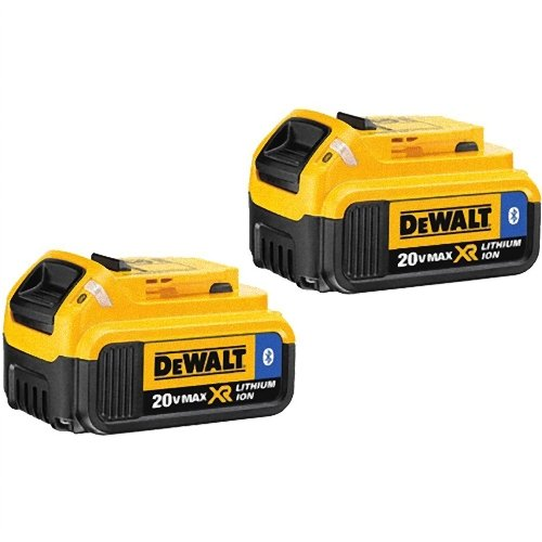 DEWALT DCB204BT-2 20V MAX 4Ah Compact Battery with Blue Tooth (2 Pack) by DEWALT