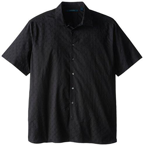 Perry Ellis Men's Big-Tall Dobby Print Shirt