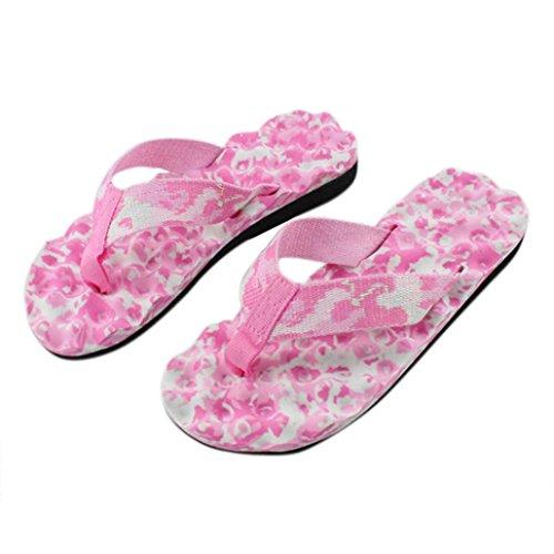 Tefamore Mujer atractivo Sra zapatillas de camuflaje sandalias Rosado