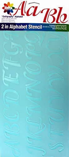 Lowercase Letter Stencils (Delta Creative 2-Inch Letters Stencil, 8-1/4 by 18-Inch, 956530018 Upper and Lower Case Calligraphy)