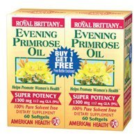 American Health - Evening Primrose Oil 1300mg Royal Brittany Twin Pack - 120+120 - Softgel ( Value Bulk Multi-pack) by AMERICAN HEALTH