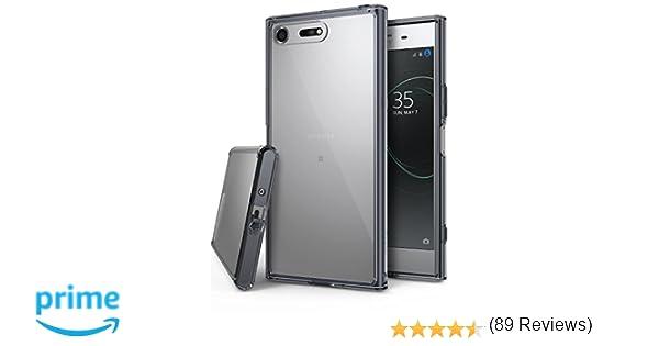 Ringke Funda Sony Xperia XZ Premium, [Fusion] Transparente al Dorso del PC y Frente al TPU [Tecnologia para Proteccion a la Caida] Carcasa Protectiva con Armadura Mejorada - Humo Negro Smoke Black