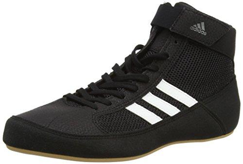 (adidas Havoc Mens Adult Wrestling Trainer Shoe Boot Black/White - US 6.5)