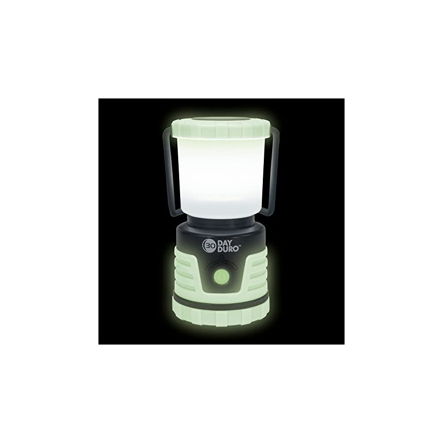 UST 30 DAY Duro LED Portable 700 Lumen Lantern with Lifetime LED Bulbs and Hook for Camping, Hiking, Emergency and Outdoor Survival