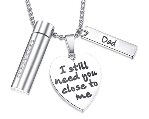 2987cc1cc213b Cremation Jewelry for Ashes Pearl Urn Necklace Keepsake in Memory of Dad, I  Still Need You Close to Me