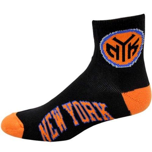 NBA New York Knicks Men's Team Quarter Socks, Large by For Bare Feet