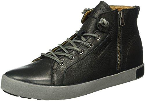 Blackstone Km99, Sneaker Alte Uomo Nero (Black)