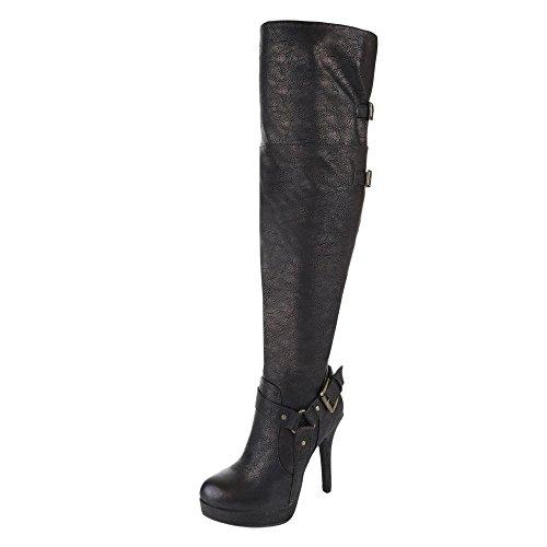 Ital-Design - botas clásicas Mujer bronce