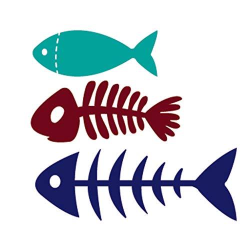 - Numkuda Fish Bone Metal Cutting Dies Stencil DIY Scrapbooking Embossing Paper Card Decor