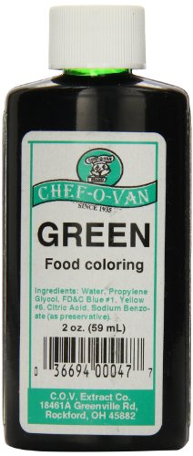 Chef O Van Food Coloring Green Ounce product image