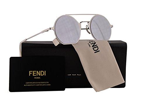 Fendi FF0291/S Sunglasses Palladium Grey w/Grey Silver Mirror Lens 48mm 010DC FF0291S FF 0291S FF 0291/S