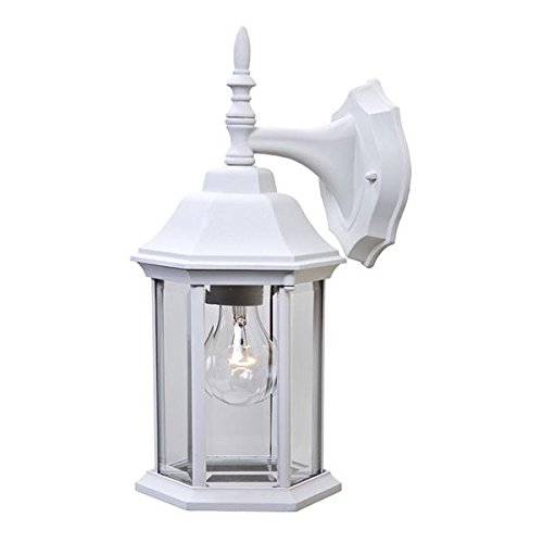 Textured White Lumtopia--DROPSHIP Acclaim 5181TW Craftsman 2 Collection 1-Light Wall Mount Outdoor Light Fixture