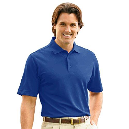 (Monterey Club Mens Dry Swing Pique Short Sleeve Solid Polo #1060 (Reflex Blue, X-Large))