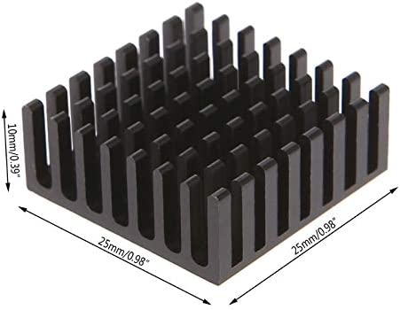 5PCS Computer Cooler Radiator Aluminum Heatsink Heat Sink for Electronic Chip Heat Dissipation Cooling Pads