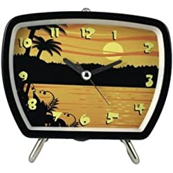 Tropical Talking Clock Sunset Black