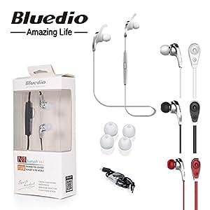 Bluedio nueve N1 estéreo inalámbricos Bluetooth, en el oído decir-Auriculares de deporte, color blanco