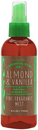 Bath and Body Works Fine Fragrance Mist Almond Vanilla 6 Ounce New Version Amber Bottle