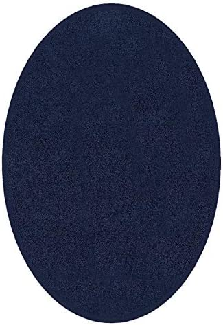 Ambient Rugs Anti Skid Plush Indoor Solid Color Area Rug Many Other Sizes to Choose from Navy – 10 x12 Oval