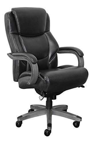La Z Boy CHR10045B Delano Executive Office Chair, Big And Tall, Black And Gray