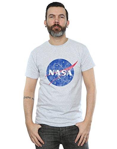Nasa Cult camiseta Logo gris desgastada Men Absolute deportiva Insignia Classic gdyWAqqf5c