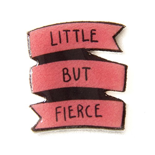 punk-rock-feminist-quote-banner-pin-in-pink-little-but-fierce-button-badge-brooch-patch-handmade