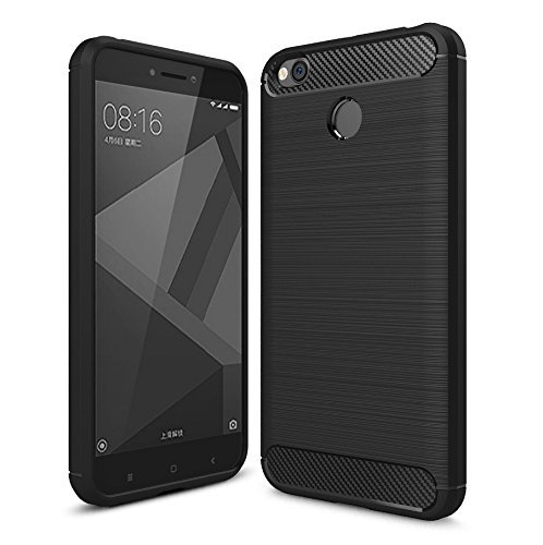 premium selection 37721 b37e7 Chevron Xiaomi Redmi 4 [May 2017 Launch] Back Cover Case, Heavy Duty Shock  Proof TPU Case for Mi Redmi 4 Mobile Protection, Metallic Black by Chevron