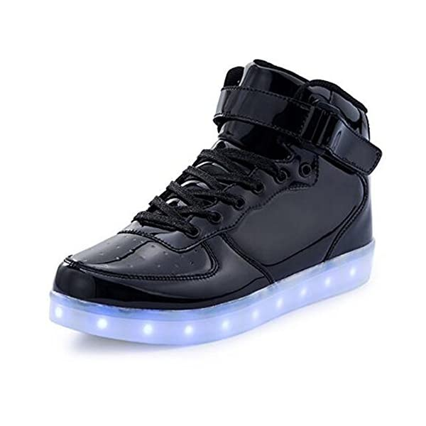 Kushopfast Kids Light Up Shoes Boy And Girl High Top Led Energy